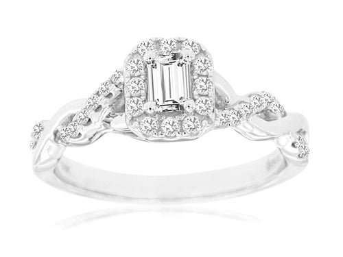 14KW Diamond Engagement Ring with .55 Ctw Diamonds