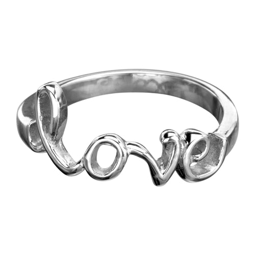 INOX Stainless Steel Love Ring Size 6