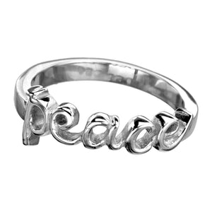 INOX Stainless Steel Peace Ring