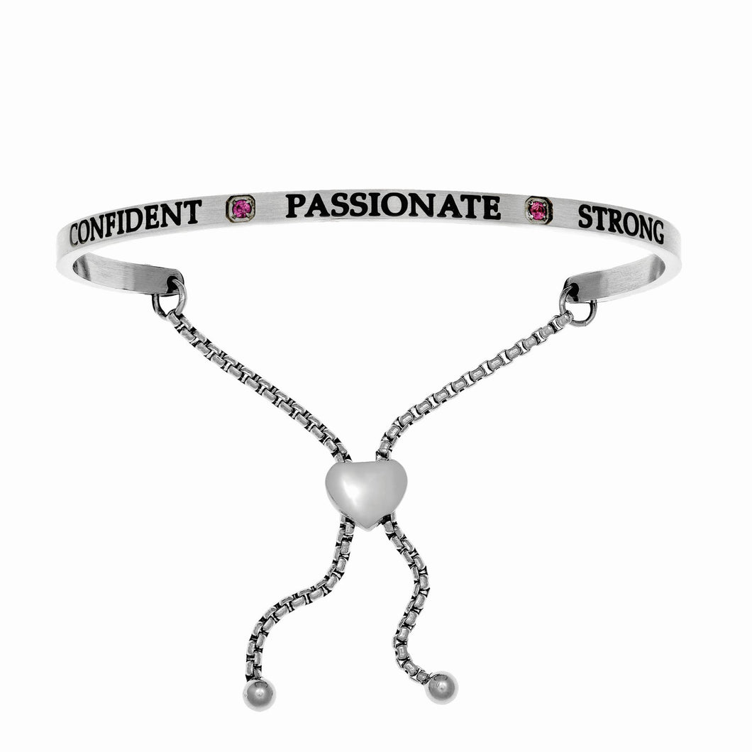Stainless Steel White July Birthstone Intuitions Friendship Bracelet with