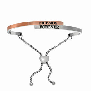 "Stainless Steel Two-Tone ""Friends Forever"" Intuitions Friendship Bracelet"