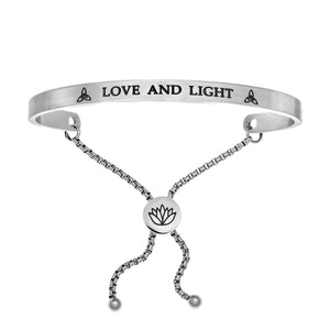 "Stainless Steel White ""Love And Light"" Intuitions Friendship Bracelet"