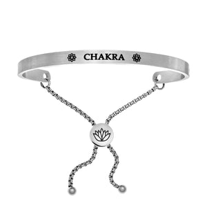 "Stainless Steel White ""Chakra"" Intuitions Friendship Bracelet"