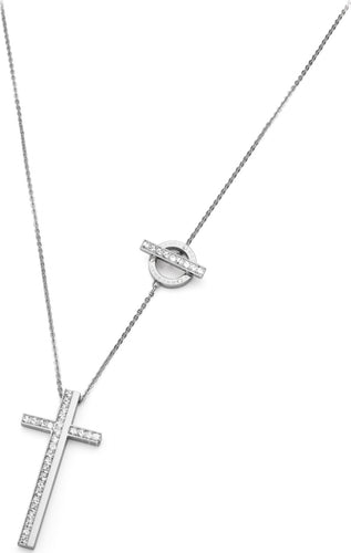 Brosway Collar MANHATTAN steel and Swarovski Cross with Necklace