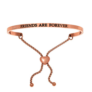 "Stainless Steel Rose ""Friends Are Forever"" Intuitions Friendship Bracelet"