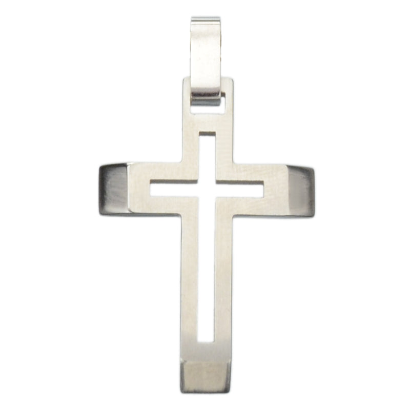 INOX Cut Out Cross Stainless Steel