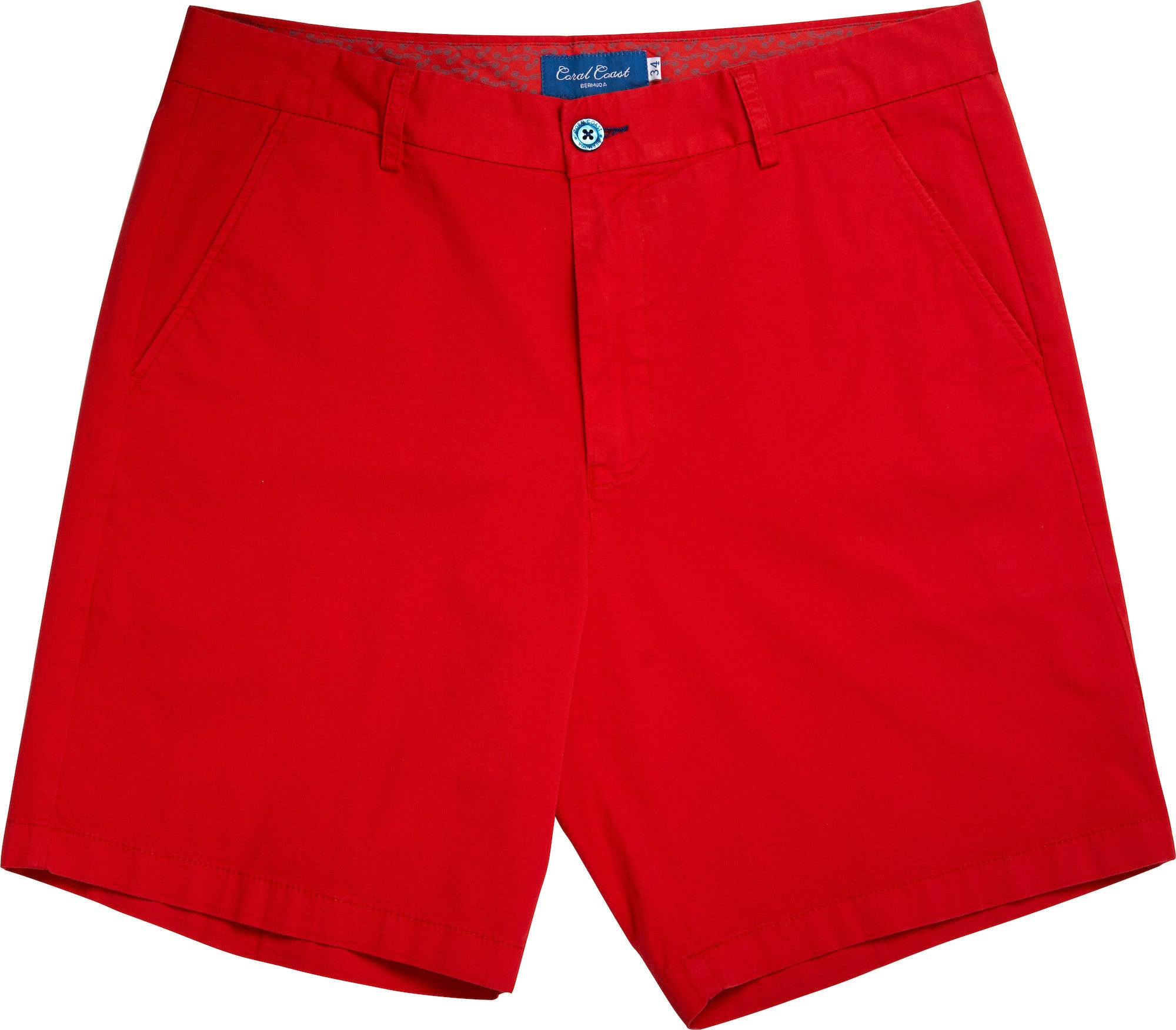 LAZY CORNER RED BERMUDA SHORT