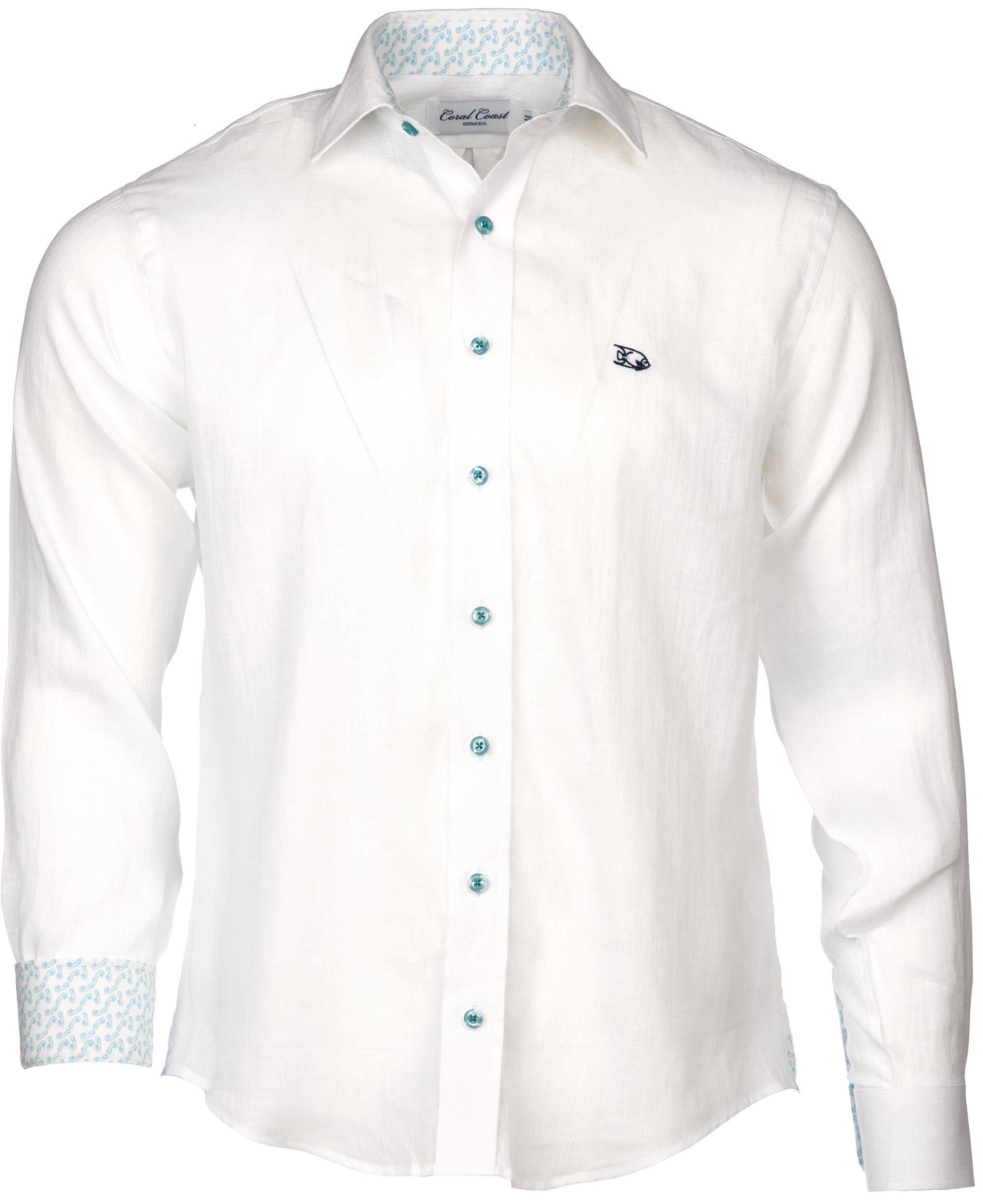 White Linen Dress Shirt