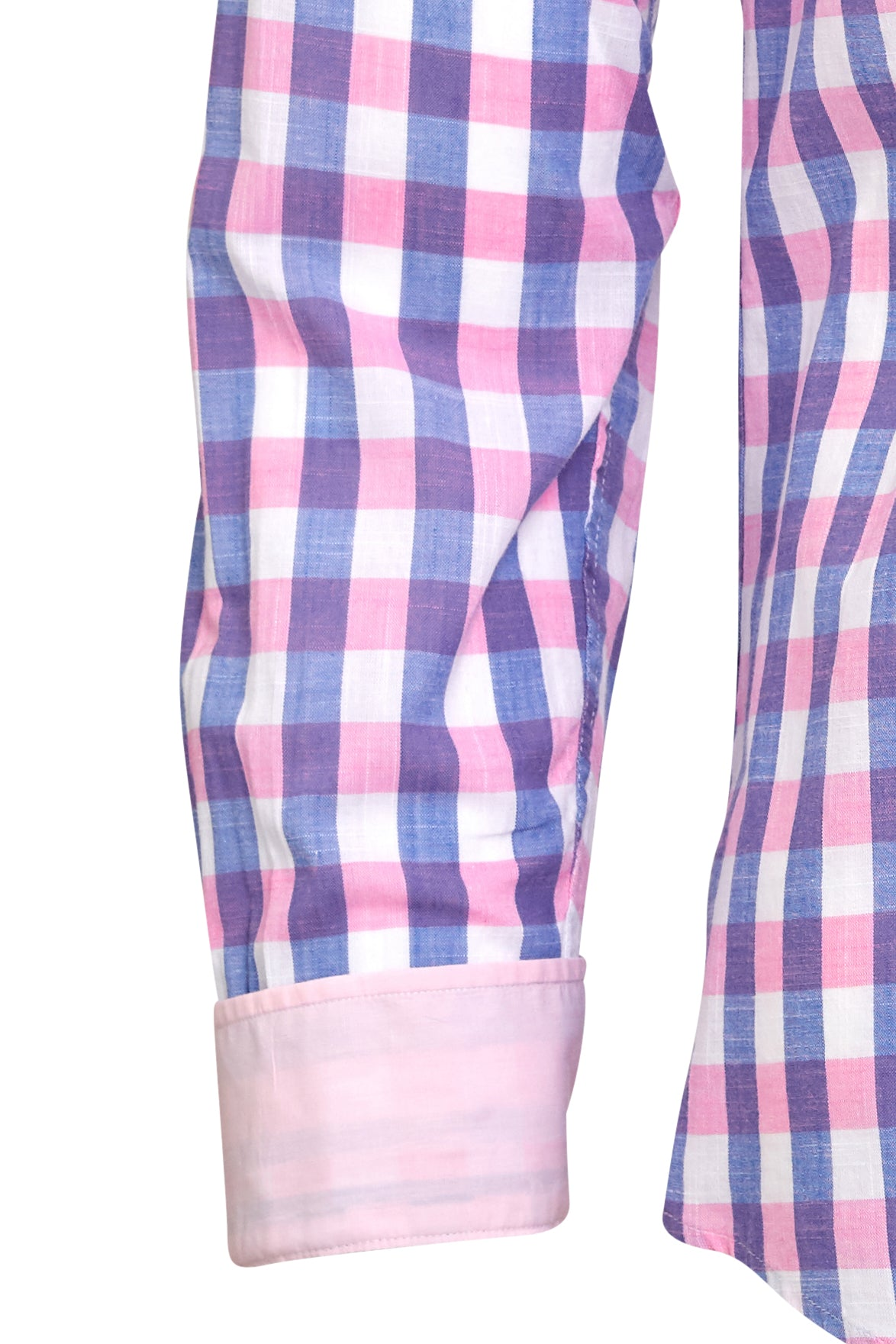 Pink n' Blue Big Check Dress Shirt