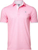 BERMUDA SAND STRIPE PERFORMANCE GOLF POLO
