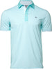SEA GLASS STRIPE PERFORMANCE GOLF POLO