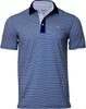 OCEAN BLUE STRIPE PERFORMANCE GOLF POLO