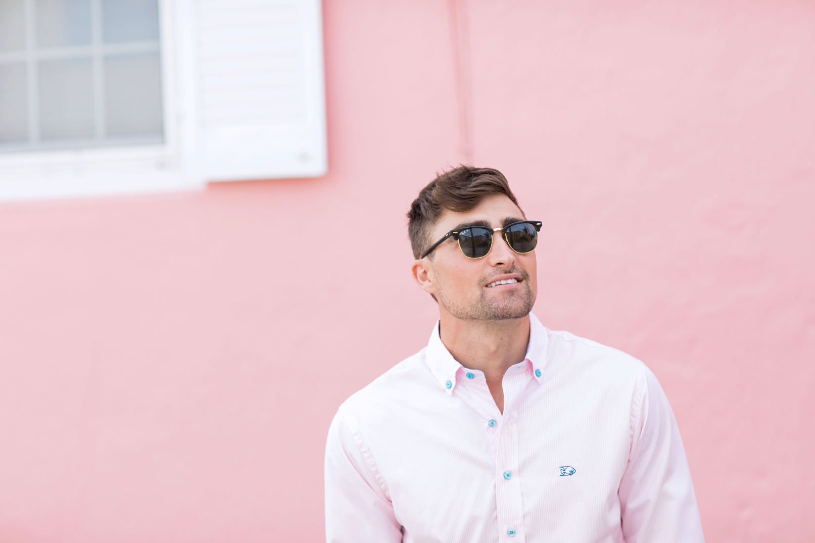 Pink Stripe Dress Shirt