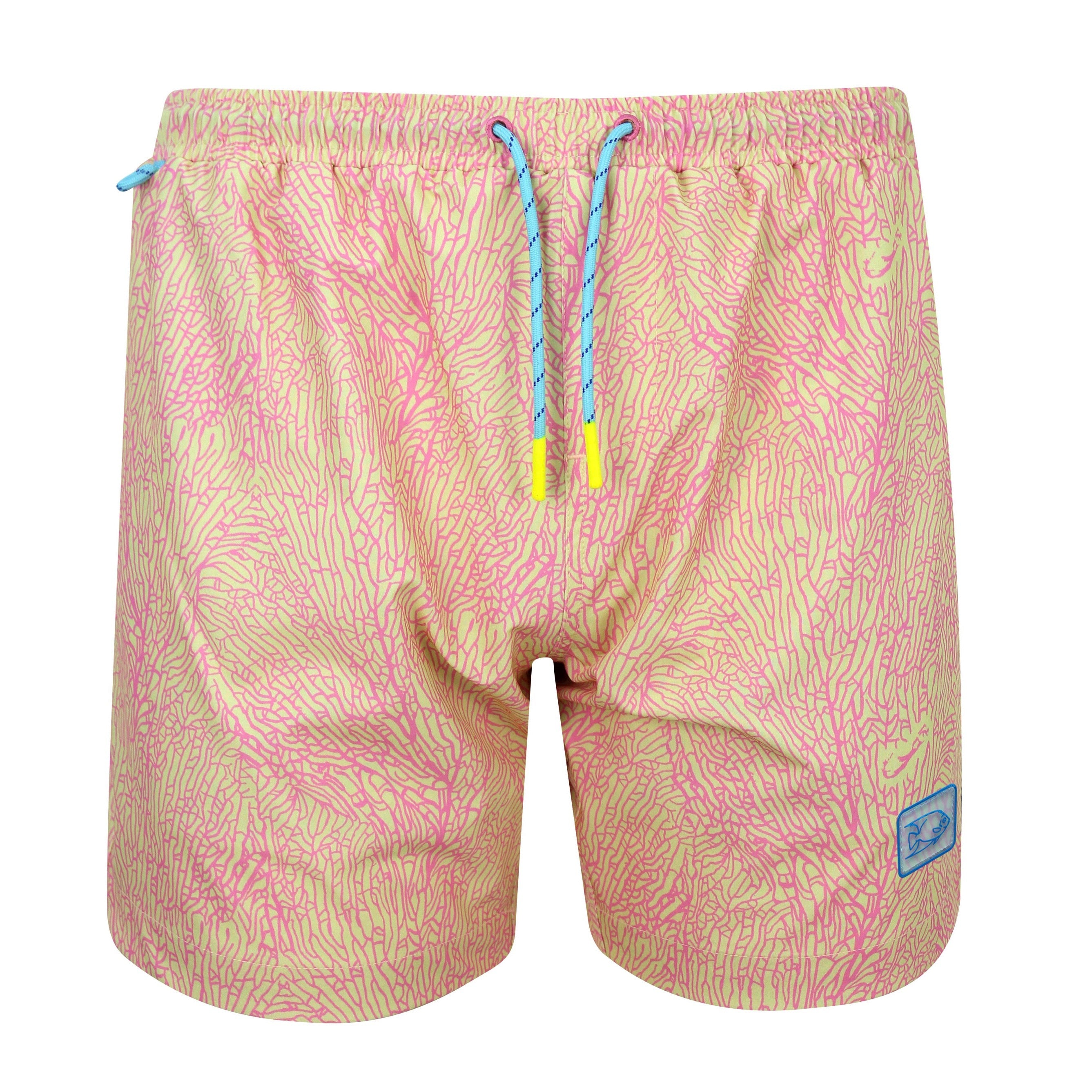 SEA FAN YELLOW SWIM TRUNK