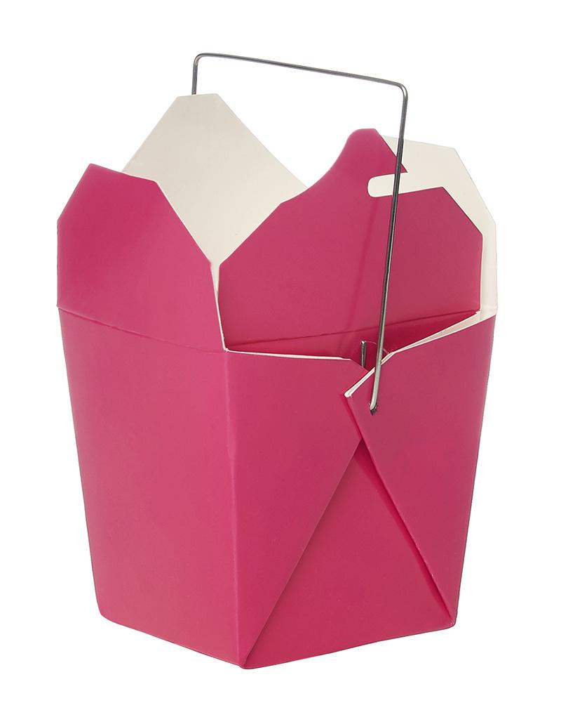 Good Fortune Mini Takeout Box – Pink