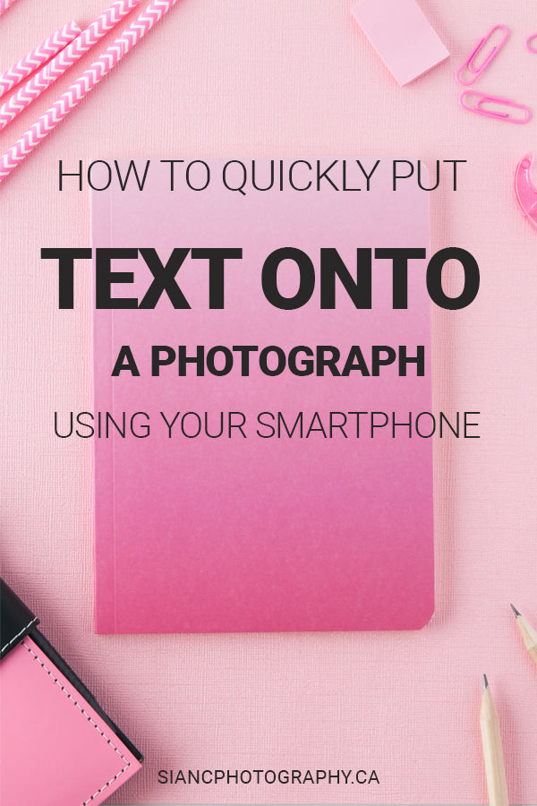 How to add text to a photo using the Canva app for mobile. An easy step by step tutorial for small business owners and social media content creators