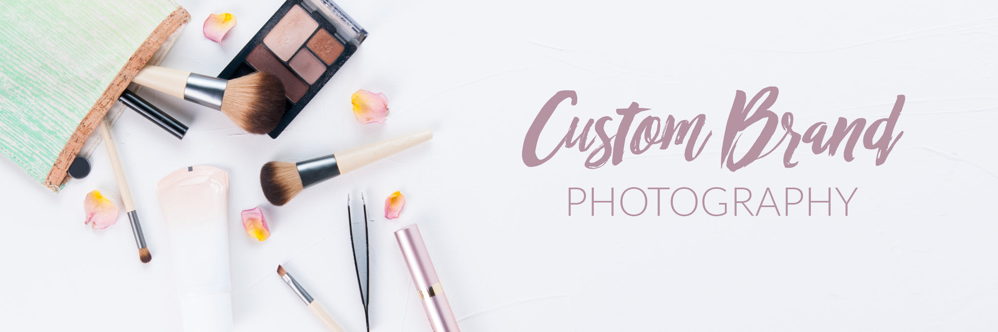 Custom brand photography example of skin care products
