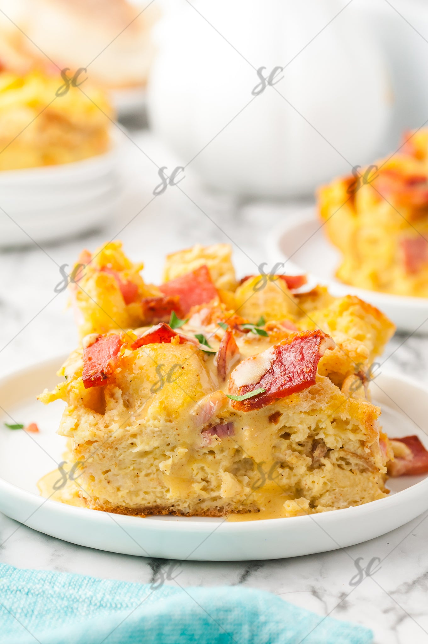 Eggs Benedict Casserole with Hallandaise - EXCLUSIVE