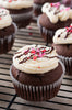 Double Chocolate Valentine Cupcakes - SET 1/4