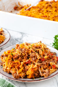 Cheesy Beef & Onion Noodles - EXCLUSIVE