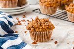 Whole Grain Pumpkin Muffins with Pecan Topping - EXCLUSIVE