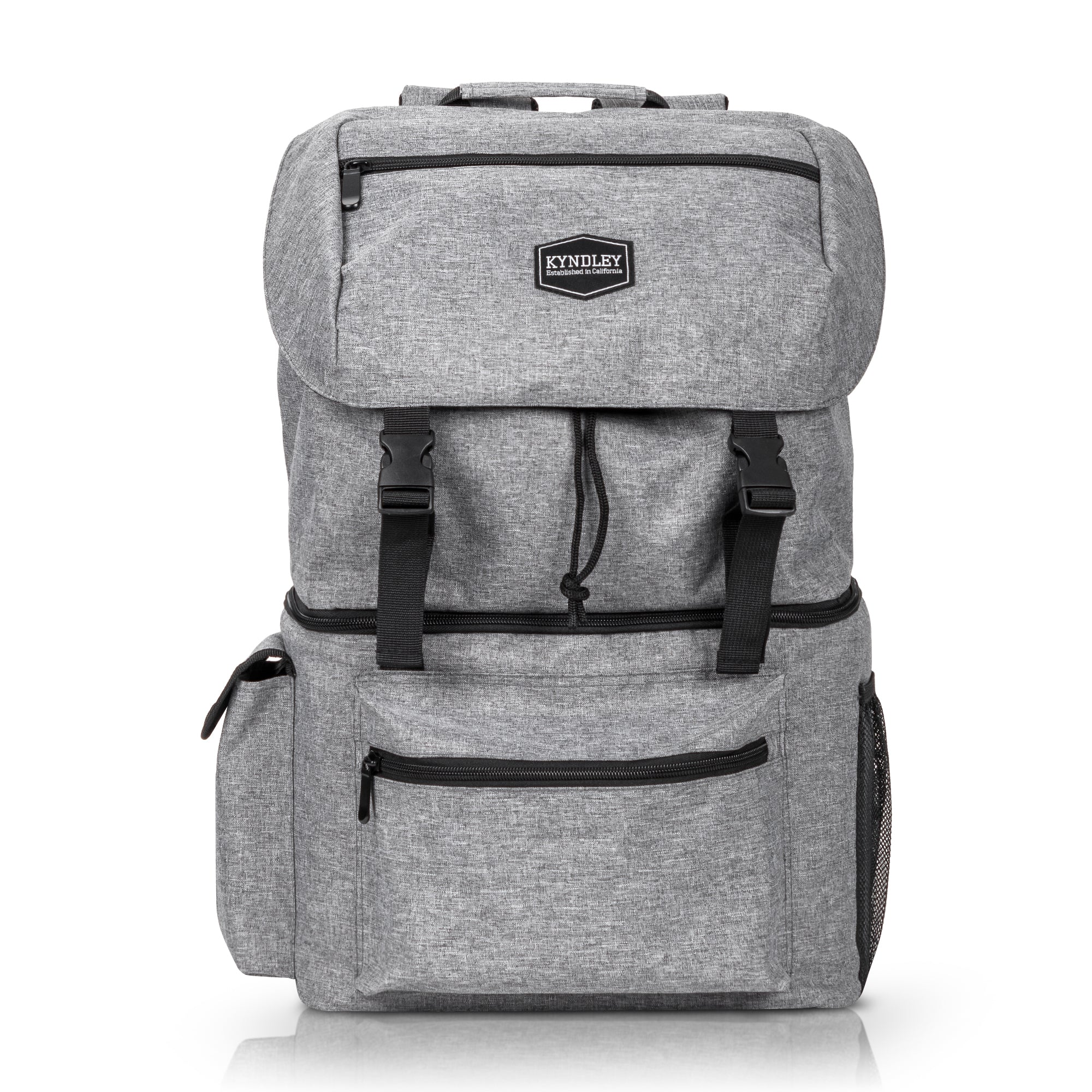 Backpack Leakproof Insulated Soft Lightweight Durable Cooler Gray Bag