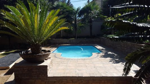 Remodeled swimming pool ready for fun
