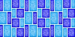 Classique 2 Blue Fibreglass Pool Mosaic Tile Sheet 420 x159mm - Swemgat