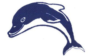 Fibreglass Pool Motif Dolphin(Select your size) - Swemgat