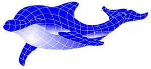 Fibreglass Pool Motif (Spoed) Dolphin (Select your size) - Swemgat