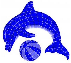 Fibreglass Pool Motif Dolphin & Ball (Select your size) - Swemgat