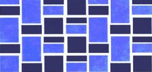 Classique Blue Fibreglass Pool Mosaic Tile Sheet 412 x148mm - Swemgat