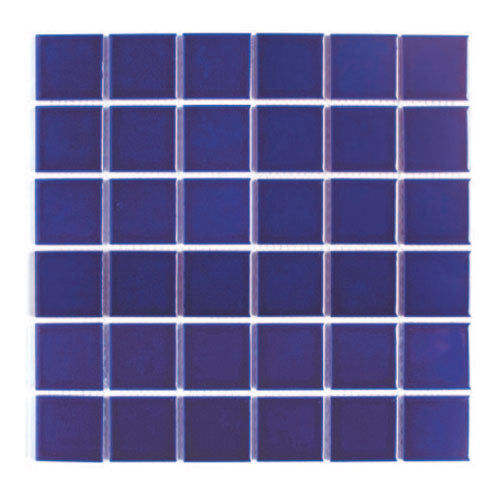 Ceramic Pool Mosaic Tiles - Standard Blue | 30cm x 30cm Sheet | For concrete / marblite swimming pools - Swemgat