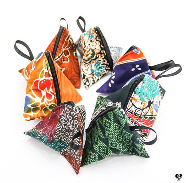 Batik Triangle Pouches