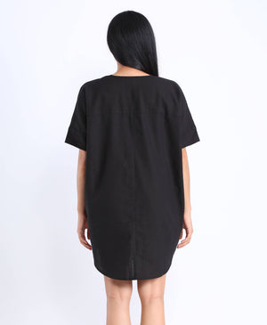Lula Shirtdress in Black