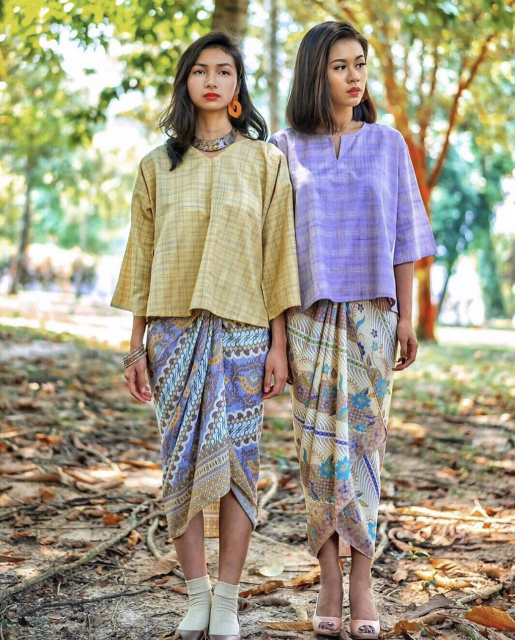 INAI KEDAH TOP with PAREO SKIRT SET