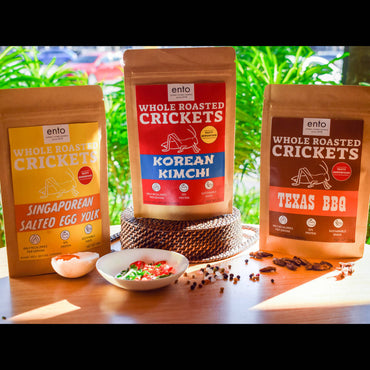 Whole Roasted Crickets Snack-Taster Bundle
