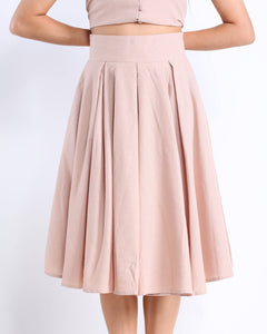 Tilde Midi Skirt in Pale Pink