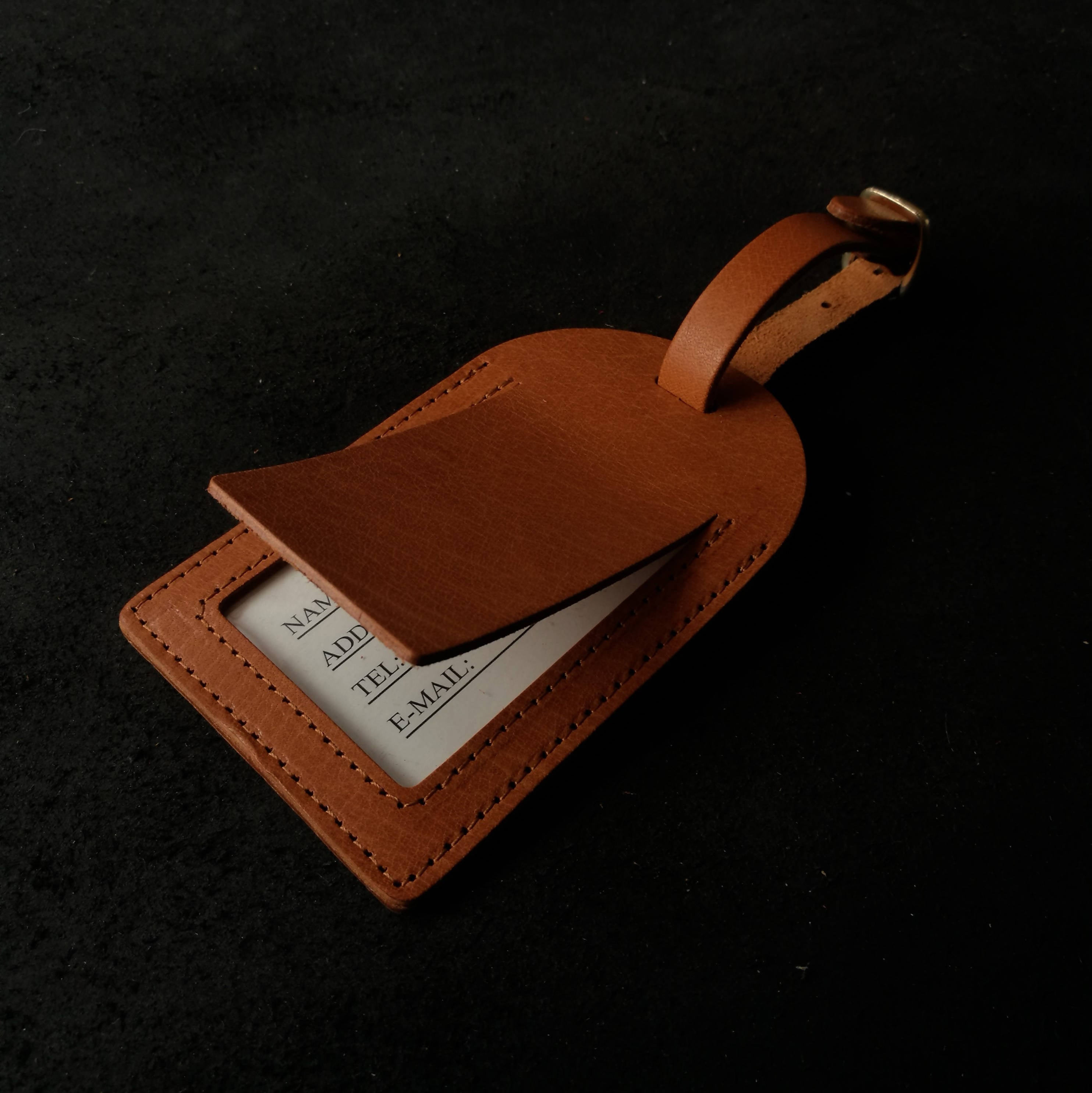 Align.Co Personalised Classic Genuine Leather Luggage Tag