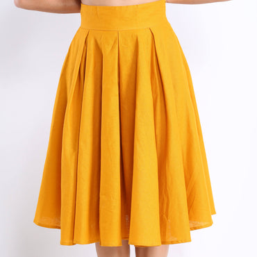 Tilde Midi Skirt in Turmeric