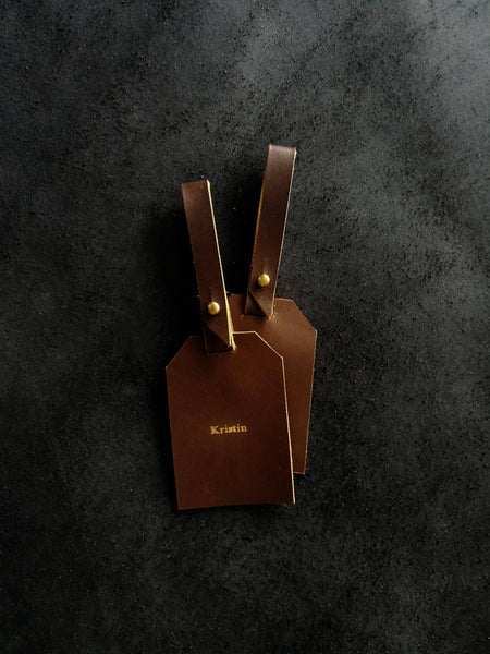 Align.Co Personalised Genuine Leather Luggage Tag