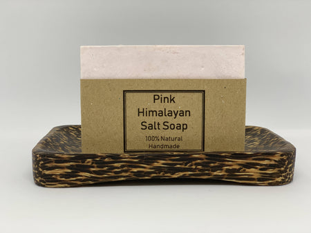Himalayan Pink Salt Deep Cleansing Soap and Soap Dish Set