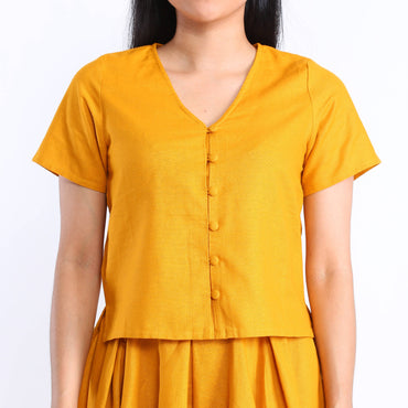Brea Blouse in Turmeric