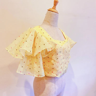 Yellow Polka Dots Top