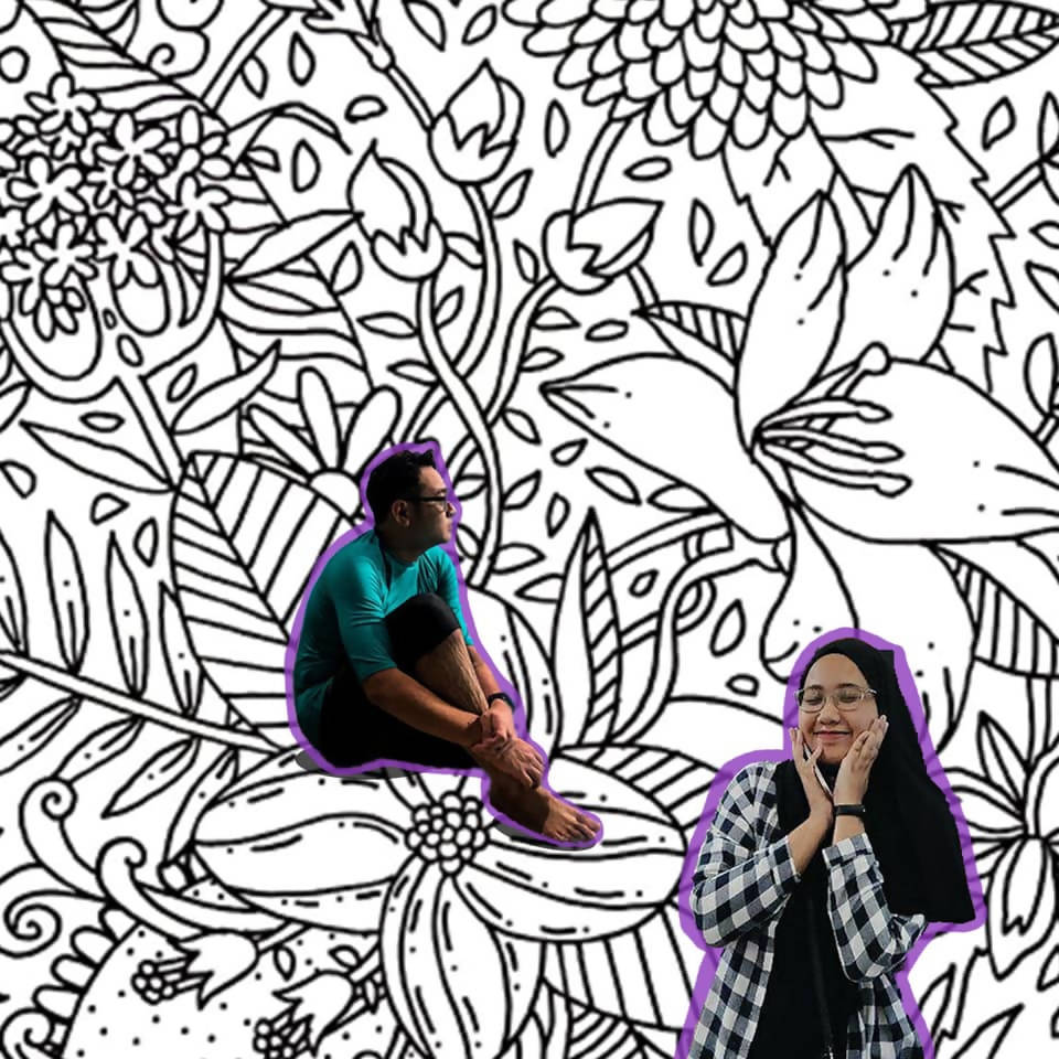 Colouring book Good Vibes To inspire Motivate Calming Therapy Encourage Young Malaysian Artist Autism