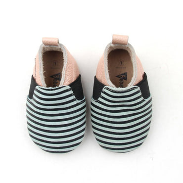 Bebebundo Baby Leather Shoes - Stripes Sunset Collection