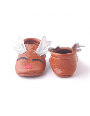 Bebebundo Baby Leather Shoes - Rudolph Xmas Collection