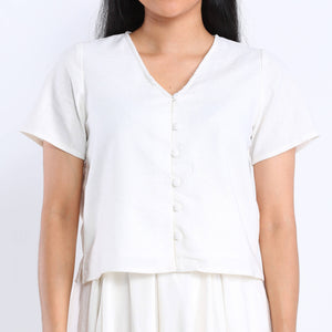 Brea Blouse in Ivory