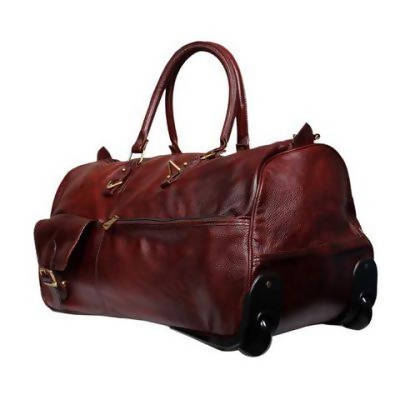 Leather Trolley Bag - Cherry