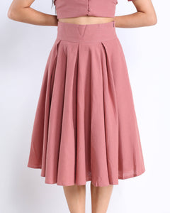 Tilde Midi Skirt in Dusty Rose